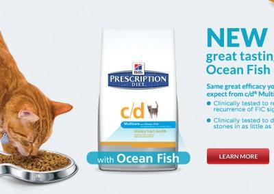 Hill's c/d Multicare Ocean Fish carousel banner