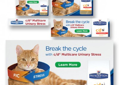 Hill's c/d Multicare Urinary Stress static banners