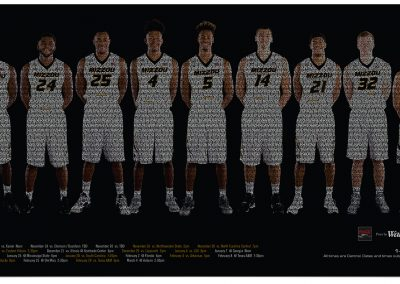 MIZZOU 2017 Mens BB Wide-format poster