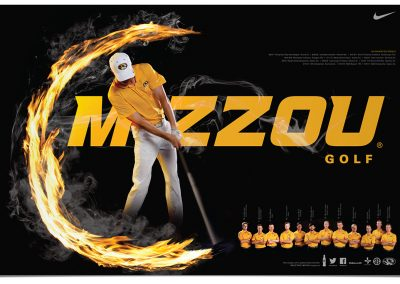 MIZZOU Mens Golf Poster 2015
